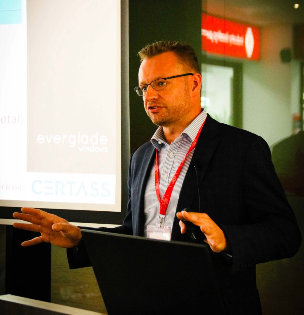 Jon Vanstone from Certass, speaking at the Everglade Conference